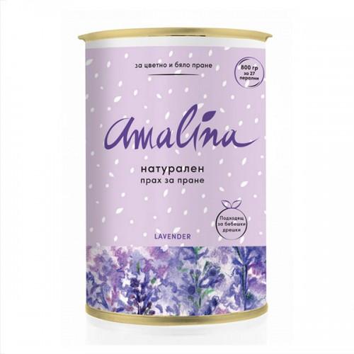 Натурален прах за цветно и бяло пране с аромат на лавандула 'Amalina' 800 г /за 27 перални/