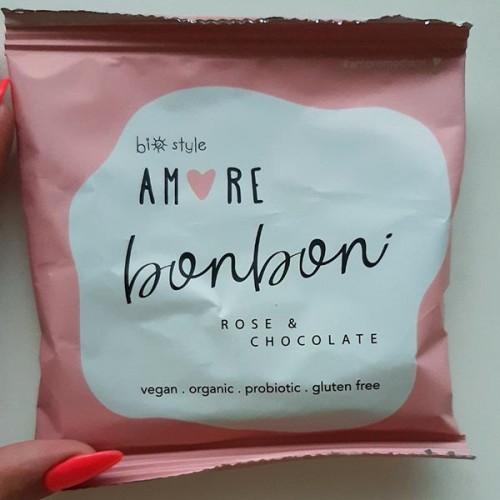Сурови бонбони с Роза и Шоколад + пробиотик /веган, без захар, био/ 'AMORE'