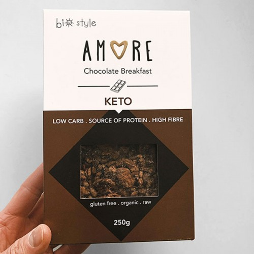 Кето гранола с Шоколад /без глутен, без захар, био/ 'AMORE', 250 г