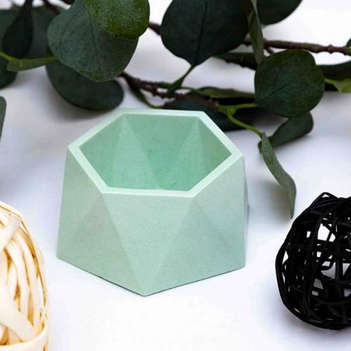 Саксия за сукуленти от бетон, ръчно изработена в бледо зелено 'Atomo'