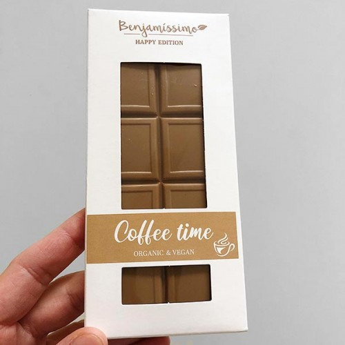 Фин бял /веган/ шоколад с безкофеиново кафе 'DABOV Specialty Coffee / Benjamissimo'