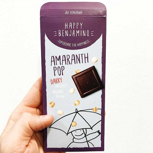 Фин черен шоколад 70% с амарант /пуканки/ БИО 'Benjamissimo'