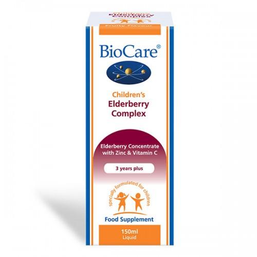 Детски сироп с витамин C, цинк и бъз / Children's Elderberry Complex 'BioCare', 150 мл