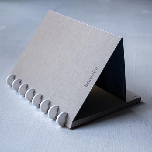 Тефтер 'borovini' Леа за многократна употреба, 60 + 18 листа / 21х15 см