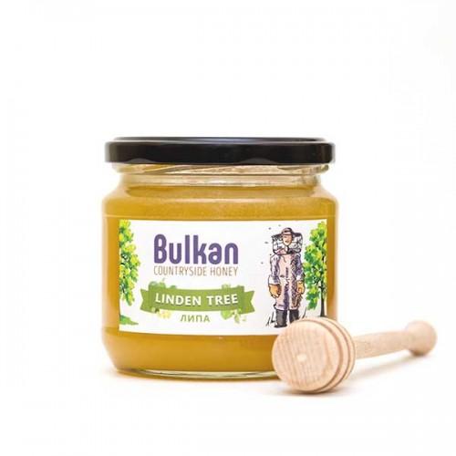 Златист мед от липа 'Bulkan' от района на гр. Тервел, 500 г