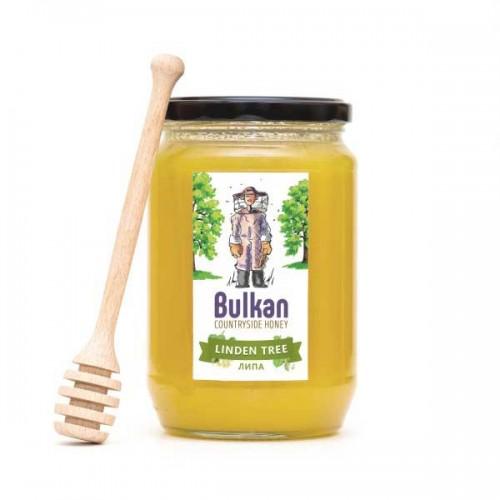 Златист мед от липа 'Bulkan' от района на гр. Тервел, 1 кг