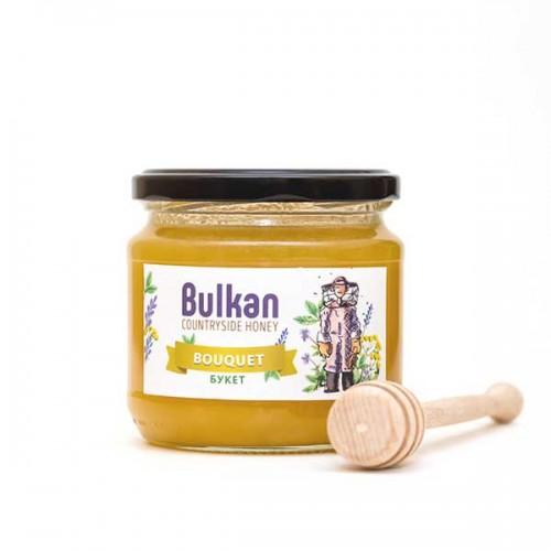 Мед юлски букет срещу кашлица 'Bulkan' от района на гр. Тервел, 500 г