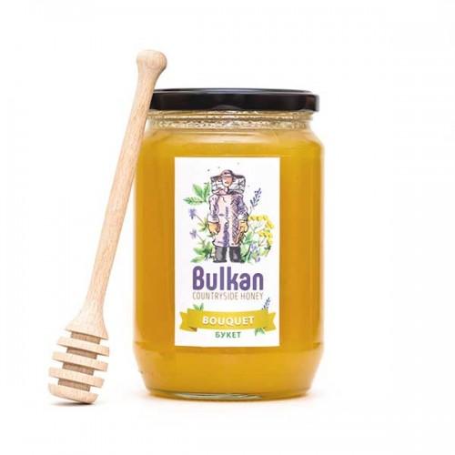 Мед юлски букет срещу кашлица 'Bulkan' от района на гр. Тервел, 1 кг