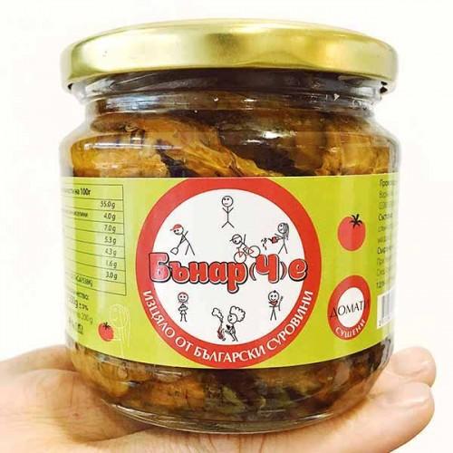 Сушени домати в шарлан /нерафинирано слънчогледово масло/, 350 гр.