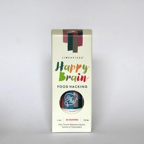 Течно ферментирала функционална смес Happy Brain 'CMYK Ingredients'