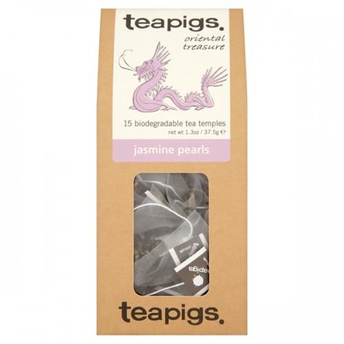 Зелен чай Жасминови перли 'TEAPIGS', 15 биоразградими торбички /пирамидки/