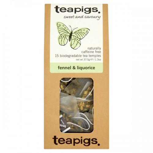 Билков чай Фенел и Сладък корен 'TEAPIGS', 15 биоразградими торбички /пирамидки/