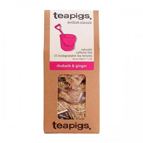 Билков чай Ревен и Джинджифил /био/ 'TEAPIGS', 15 биоразградими торбички /пирамидки/