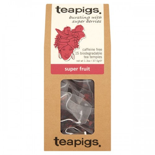 Плодов чай - супер плодове 'TEAPIGS', 15 биоразградими торбички /пирамидки/