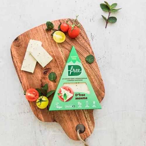 Ядково сирене от 84% ферментирало кашу с МЕНТА и бифидо бактерии BB12 /зряло 15 дни/ D'free, 100г