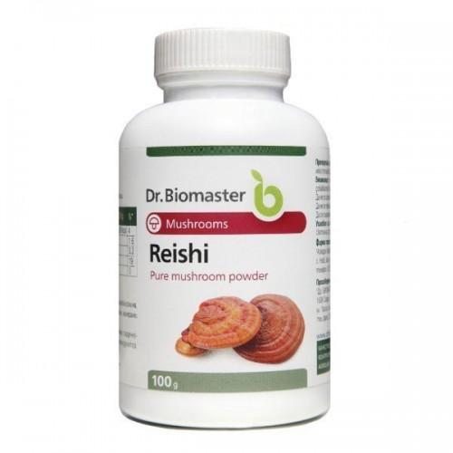 Рейши на прах от плодно тяло /Ganoderma lucidum/ супер фино смлян по метода 'shellbroken' за повишаване биоусвоимостта 'Dr.Biomaster', 100 g