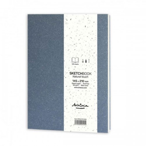 Скицник 'Natural Touch' зелен 14.5*21 cm 128 листа 100 g/m2, Drasca