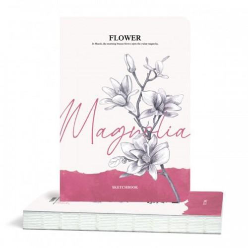 Скицник 'Flower' Магнолия 14.5*21 cm 80 листа 100 g/m2, Drasca