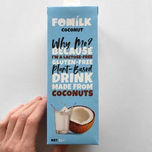 Кокосово мляко без глутен и без захар 'FOMILK', 1 л