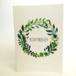 Картичка за рожден ден с авторска илюстрация на GloryArt /Глория Шуглева/ + крафт плик