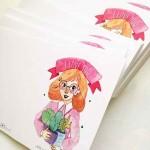 Картичка 'Обичам те, въпреки тръните ти', GloryArt /Глория Шуглева/ + крафт плик