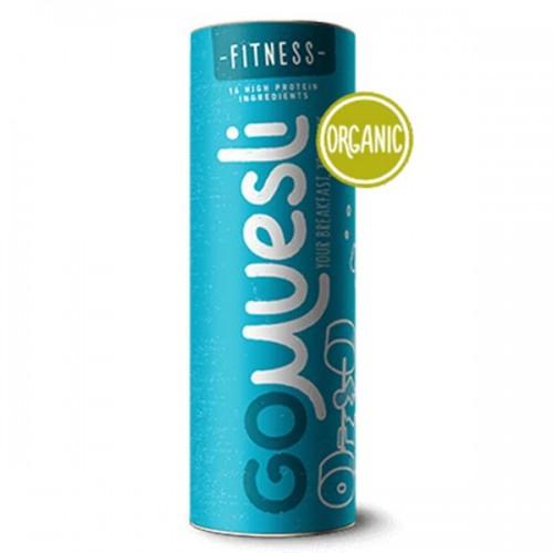 GoMuesli FITNESS в тубус - микс от 14 съставки богати на растителен протеин /без добавена захар/, 500 гр.