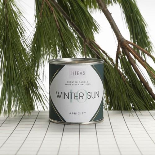 Ароматна свещ 10 / WINTER SUN с усещане за подправки, амбър и пачули 'I-TEMS'