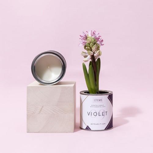 Ароматна свещ 09 / VIOLET с неустоим аромат на виолетки, I-TEMS