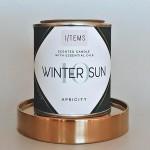 Ароматна свещ 10 / WINTER SUN с усещане подправки, амбър и пачули, I-TEMS