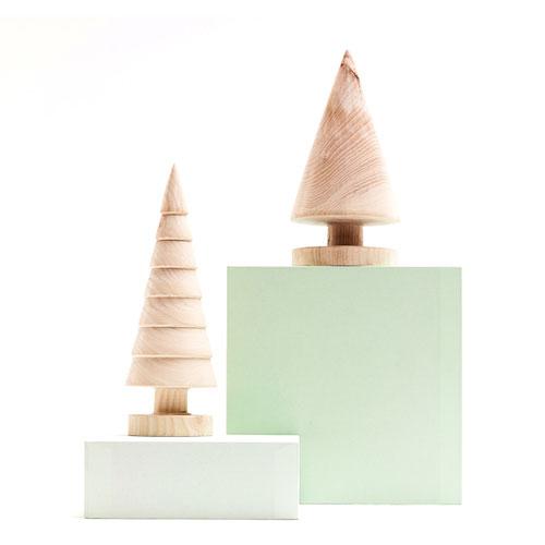 Декоративна дървена елхичка, ръчно изработена от паднали клони в гората, I-TEMS