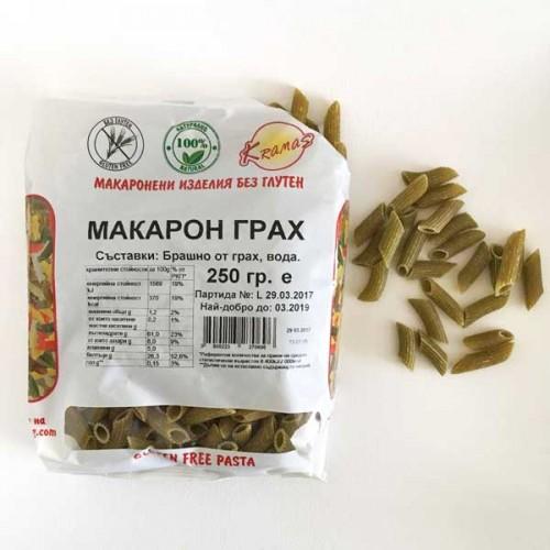 Безглутенови макарони от зелен грах /готови за 6-8 минути/, 250 г