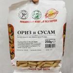 Безглутенови макарони от ориз и сусам /готови за 6-8 минути/ 'Kramas', 250 г