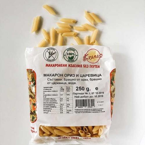 Безглутенови макарони от ориз и царевица /готови за 6-8 минути/ 'Kramas', 250 г
