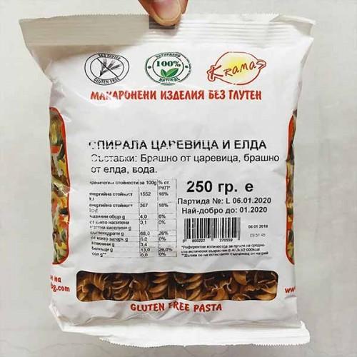 Безглутенови спирали от царевица и елда /готови за 6-8 минути/ 'Kramas', 250г