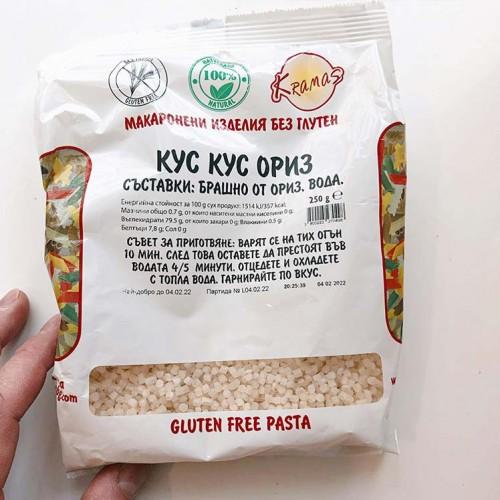 Кускус от ориз /безглутенов, веган/ - готов за 6-8 минути 'Kramas', 250 г