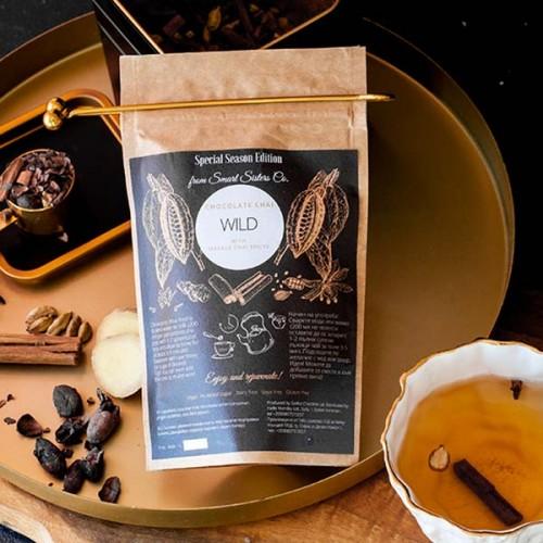 Какаов чай с масала подправки 'Chocolate Chai Wild' /веган, без глутен, без добавена захар/ MURSALA, 100 г
