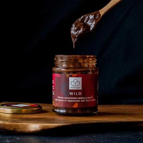 Течен черен /веган/ шоколад с био CO2 екстракти от Мурсалски чай, Шипка и Бъз 'MURSALA'