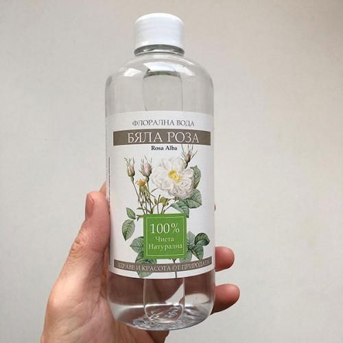 Флорална вода от Роза Алба /бяла/ 'NatureBase', 500 мл