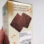 Пълнозърнести бисквити с Лимец, Фурми и Черен шоколад 'ДОБИ', 150 г