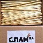 Сламки от българска пшеница /биоразградими/ 'СЛАМка', 80 броя