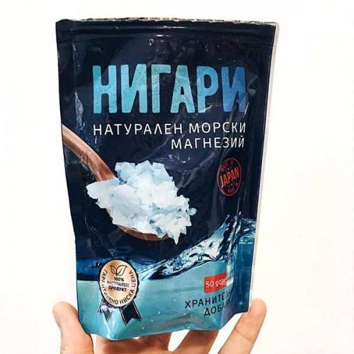 Нигари - натурален морски магнезий на кристали за пиене, 100 гр.