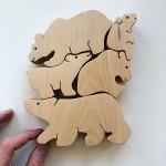 Детска дървена играчка-пъзел Мечета-гимнастици /от 5 части/ 'PepeWoods'