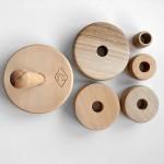 Детска дървена играчка - низанка от 6 части /от два вида масив/ 'PepeWoods'