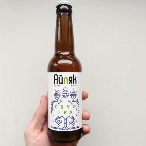 Айляк CRYO IPA 6,6% крафт бира с аромат на тропически плодове, бор и окосена трева, 330ml