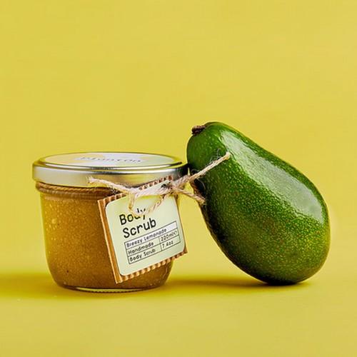 Скраб за тяло с лимон, лайм и авокадо 'PlantOn' /без пластмаса и палмово масло/