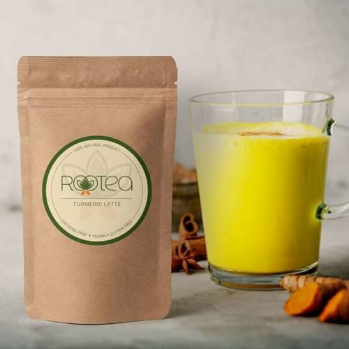 ROOTEA Turmeric Latte /куркума лате/ - микс от корени и билки с противовъзпалително и имуностимулиращо действие, 60 г
