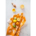 Памучна кърпа от 100% суров памук в луксозна картонена опаковка /оранжева/ 'Softer + Wild', 70х50см