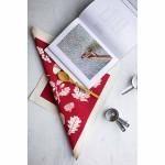 Памучна кърпа от 100% суров памук в луксозна картонена опаковка /червена/ 'Softer + Wild', 70х50см