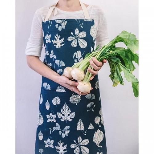 Памучна кухненска престилка от 100% суров памук /синя/ 'Softer + Wild'