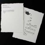 Авторска картичка с българската азбука 'ЧАЙ' и ръчно изрязана хартия, WolfPaper